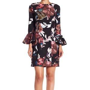 NWT Trina Turk Panache 2 Floral Print Ruffle Dress